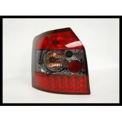 PILOTOS TRASEROS AUDI A4 '01 SW, RED SMOKED, LED