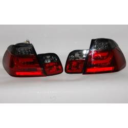 FANALI POSTERIORI CARDNA BMW E46 02-05 4P LIGHTBAR RED/SMOKED