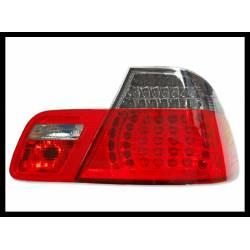 PILOTOS TRASEROS BMW E46 COUPE, '99-02 LED RED SMOKED.
