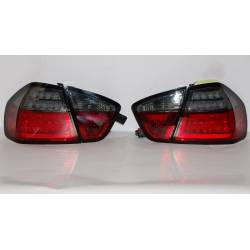 FANALI POSTERIORI CARDNA BMW E90 05 LED LAMPEGGIANTE LIGHTBAR RED/SMOKED