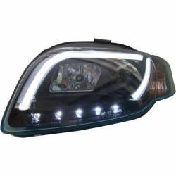 FANALI DAY LIGHT AUDI A4 LTI 05-08 BLACK