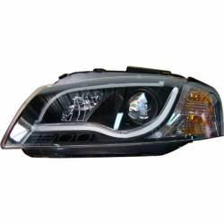 FANALI ANTERIORI DAY LIGHT AUDI A3 LTI 03-08 BLACK