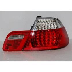 FANALI POSTERIORI BMW E46 '98-'05 CC, LED, RED, CHROMED