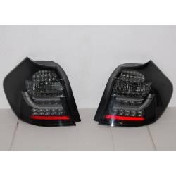 PILOTOS TRASEROS CARDNA BMW E87 / E81 07-11 BLACK/SMOKED INTERM. LED LIGHTBAR