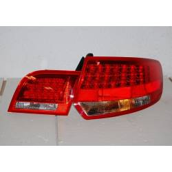 FANALI POSTERIORI AUDI A3 SPORTBACK '04-08 LED RED/BLACK