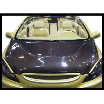 Carbon bonnet Peugeot 307, with air intake