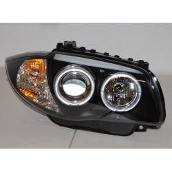 FARI ANTERIORE ANGEL EYES BMW E87/E81/E88/E82 BLACK