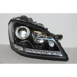 Set of headlamps day light Mercedes W164 2005-2008 black