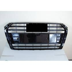 GRILLE AUDI A4 2016+ LOOK S4 BLACK