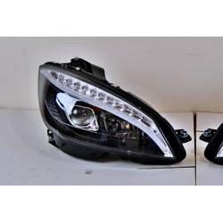 Phare Avant Lumière De Jour Mercedes W204 '07-'10 Noir Led clignotante.