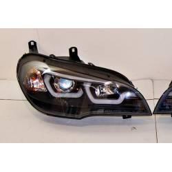 Faros Delanteros Luz De Dia Real BMW X5 E70 07-13 Xenon Black