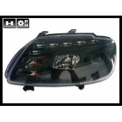 Faros Delanteros Luz De Dia Volkswagen Touran '03 / Caddy '05 Black