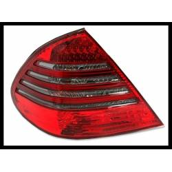 Pilotos Traseros Mercedes W211 07-09 Led Red Smoked