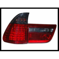 FARI POSTERIORE BMW X5 00-03  RED SMOKED LED