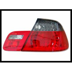 FANALI POSTERIORI BMW E46 '98-'05 CC, LED, RED, CHROMED, SMOKED