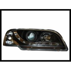 Faros Delanteros Luz De Dia Para El Volvo S-40 95-98 Black
