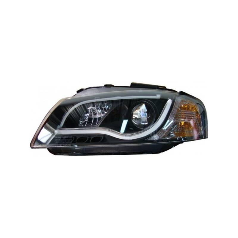 phare avant lumi re de jour audi a3 lti 03 08 noir convert cars. Black Bedroom Furniture Sets. Home Design Ideas
