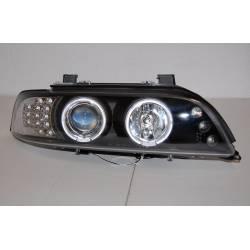 FANALI DAY LIGHT BMW E39 95-03 BLACK INT.LED