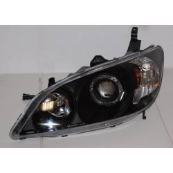 Faros Delanteros Ojos De Angel Honda Civic '04 4P Black