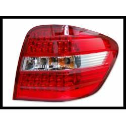 SET OF REAR TAIL LIGHTS MERCEDES ML BOX W164 2006 LED CHROMED/RED