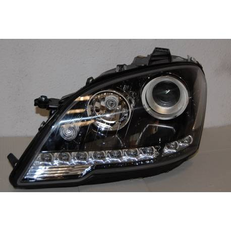 SET OF HEADLAMPS DAY LIGHT MERCEDES W164 2008-2011 BLACK