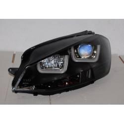 Faros Delanteros Luz De Dia Real Volkswagen Golf 7 Black