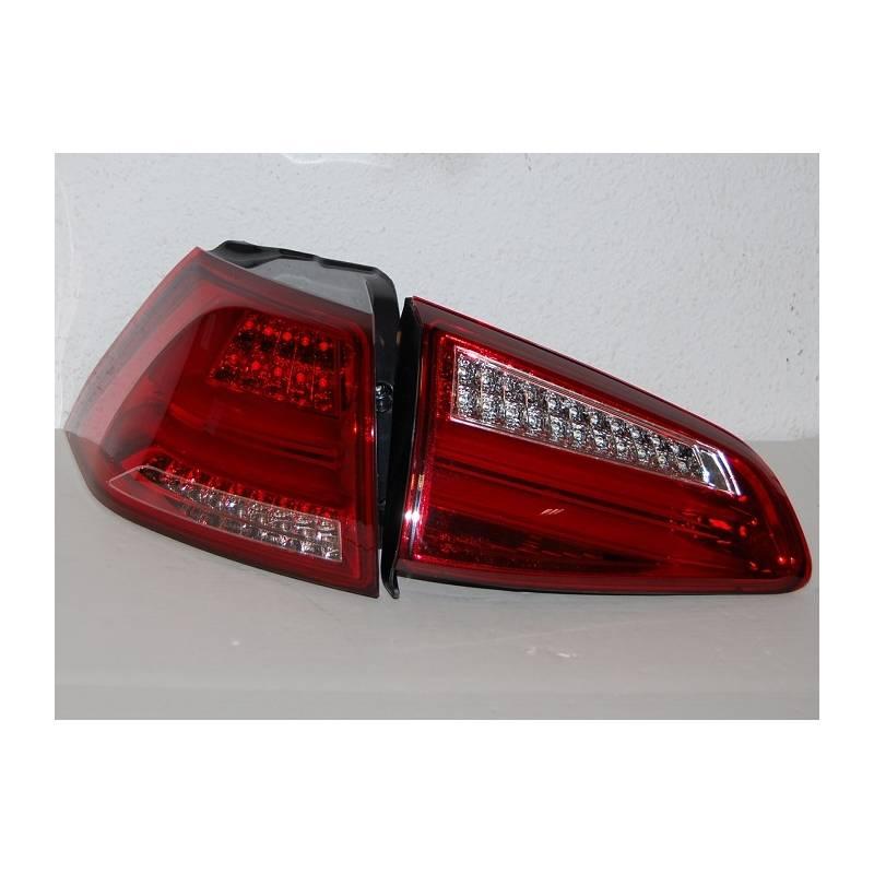 feux arri res volkswagen golf 7 2013 led red cardna convert cars. Black Bedroom Furniture Sets. Home Design Ideas
