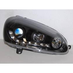 Faros Delanteros Luz De Dia Volkswagen Golf 5 Black