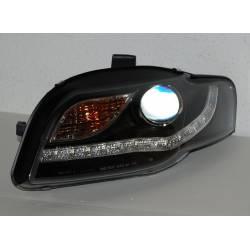 FANALI ANTERIORE AUDI A4 05-08 DAY LIGHT INTERM. LED BLACK
