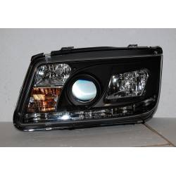 Faros Delanteros Luz De Dia Volkswagen Bora/Jetta 4 '99 Black