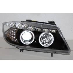 FANALI DAY LIGHT BMW E90 - E91 NERO