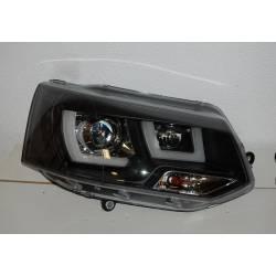 Faros Delanteros Luz Dia Volkswagen T5 2009 Black