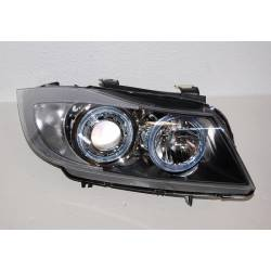 Phare avant yeux d'ange BMW E90 '05 noir Elect.