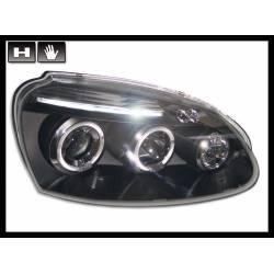 Faros Delanteros Ojos De Angel Volkswagen Golf 5 Black
