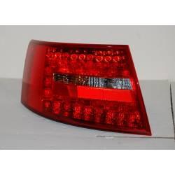 Pilotos Traseros Audi A6 '04-07 Red Smoked