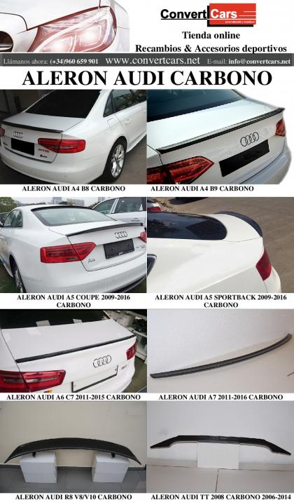 Alerones Audi Carbono